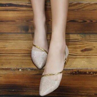 Harga JOY Flat Bottom Female Single Shoes (Glod) - Intl - Intl