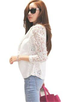 Harga LALANG Korean Slim Lace Casual Coat White