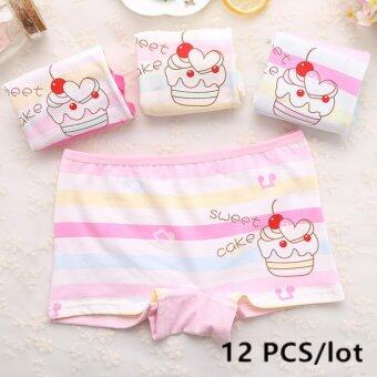 Harga Girls Underpants Shorts For child Children's boxer girls underwear cotton carton 2098-12P - intl