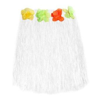 Harga Hot Tropical Hawaiian Hula Grass Skirt Flower Dancer Skirt Party Dress Beach Dress 40cm Long - intl