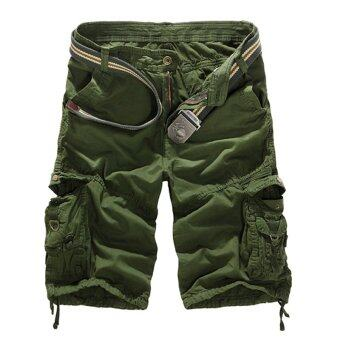 Harga PODOM Men's Army Camo Camouflage Casual Short Pants Amy Green