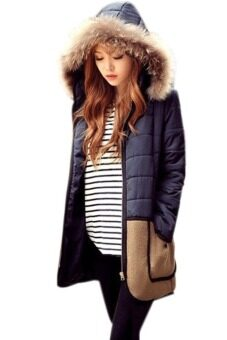 Harga SuperCart Winter Women Coat Outerwear Cotton-Down Fur Coat Parka Female Overcoat Jacket (Intl)