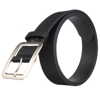 Harga Autoleader Fashion Men's WaistBand Leather Classic Casual Dress Pin Belt Waist Strap Belts Black (Intl)
