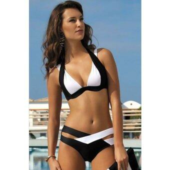 Harga Classic Women's Push Up Halter Bikini Swimsuit Top & Bottom