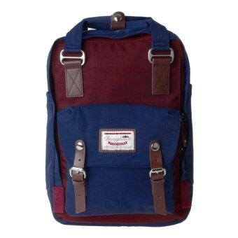 Harga Doughnut Waterproof Students Backpack Nylon Backpack Wine Red With Blue