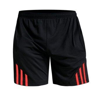 Jiayiqi Men's Gym Close Fitting Running Sports Shorts Red - intl