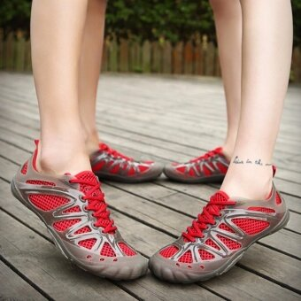 New style Outdoor Man/ Women Upstream Shoes Breathable Quick-DryingShoes - Red - intl