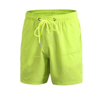 Harga Ocean Men Casual sports shorts running basketball Fitness trainingBreathable loose stretch quick-drying shorts (Green) - intl
