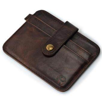 Slim Credit Card Holder Mini Wallet ID Case Purse Bag Pouch Brown -intl