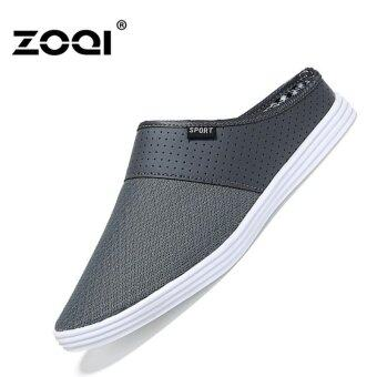 Harga Slip-Ons & Loafers ZOQI Men's Fashion Casual Shoes(Grey) - intl