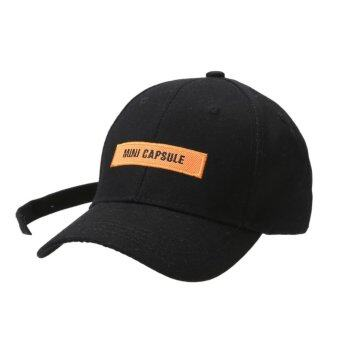 Unisex Snapback Adjustable Baseball Cap Hip Hop Bboy Hat(Black+Black) - intl