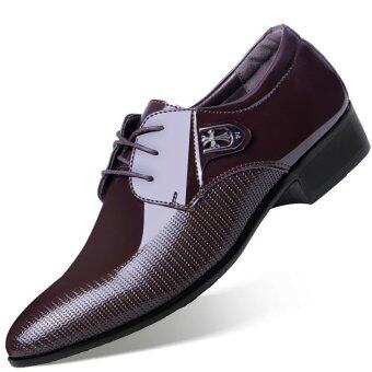 Victory New Men Formal Business Affairs Casual Leather ShoesPointed Shoes (Brown) - intl