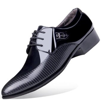 Victory New Men Formal Business Affairs Casual Leather ShoesPointed Shoes(Black) - intl
