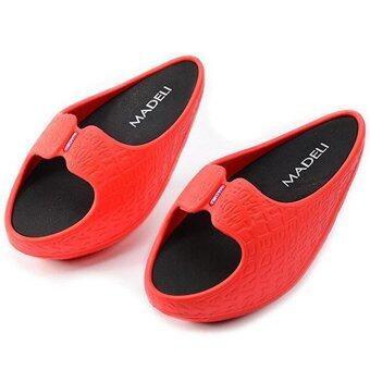 Harga women summer slides fashion slimming shoes fitness ladies swingshoes indoor/outdoor slippers women slimming shoes shake sandals -intl