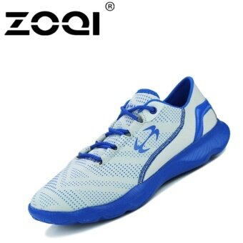 Harga ZOQI Light Breathable Men Fashion Running Shoes Grey - intl