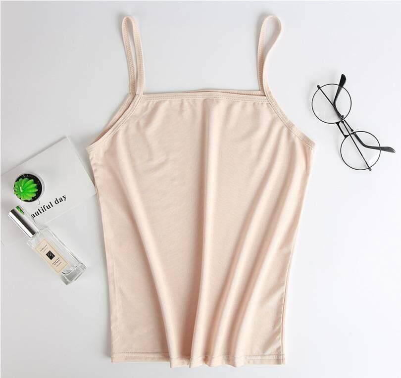 (เก็บโค้ด 3 ชิ้นส่งฟรี) เสื้อซับใน ซับในผ้านิ่ม สายเดี่ยว บังทรง 3 สี L, XL, 2XL, 3XL ไซส์ใหญ่ สาวอวบ plus size tank top