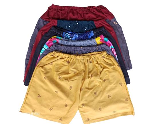 เกงขาสั้นเด็กชาย คอตตอน ครึ่งโหล 6 ตัว น้ำหนัก 5- 15กิโล ชาย - หญิง.