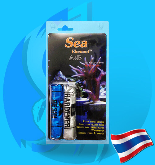 กาวติดหินเป็น กาวปะการัง สำหรับหินขนาดใหญ่ มี มอก. Sea Elements Coral Glue A+B Epoxy 2x50g อีพอกซี่