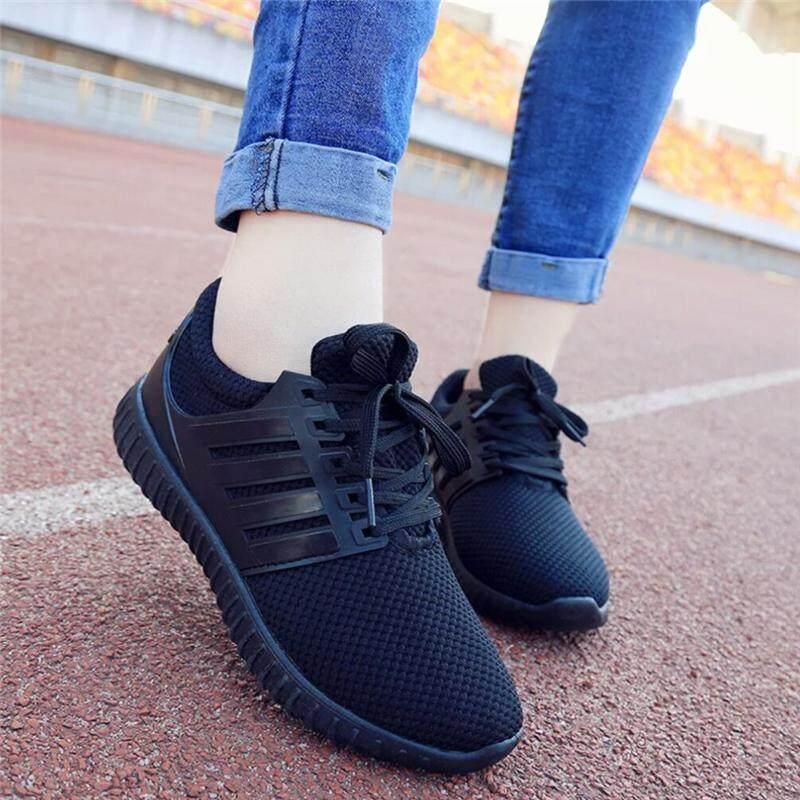 โปรโมชั่นราคาถูกนิ่มสุดๆด้วยผ้ายืดสุดล้ำใส่ได้ รองเท้าแฟชั่น รองเท้าผ้าใบแบบผูกเชือกรองเท้ากีฬา.