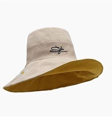 หมวก หมวกกันแดด หมวกวินเทจ หมวกแฟชั่น หมวกบักเก็ต หมวกผู้หญิง หมวกกันแดดหญิง หมวกแฟชั่นหญิง หมวกบักเก็ตผญ ใส่ได้ 2 ด้าน / JT.Fashion