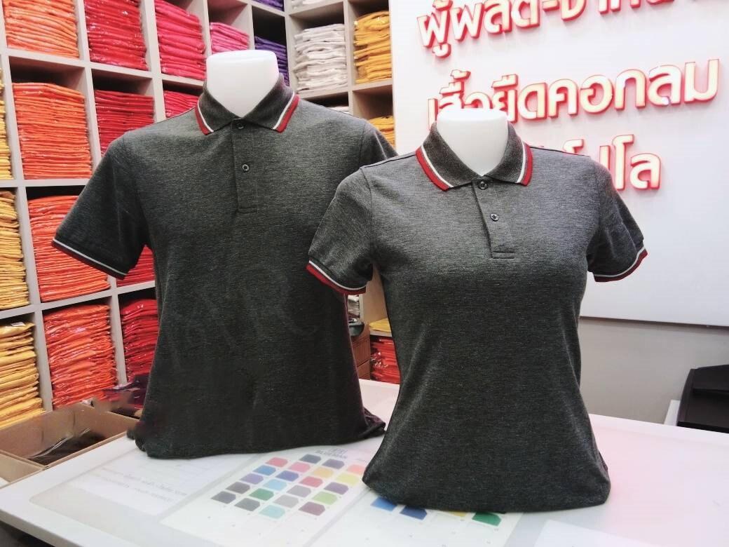 เสื้อโปโลชาย เสื้อคอปกชาย/หญิง แขนสั้น แบบคลีบ POLO ผ้าCOTTON (สีท็อปดำ)