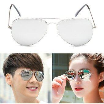 Harga 2017 New Men's Sunglasses Colorful Mercury Ancient Frame AviatorGlasses (silver Frame silver Film) - intl