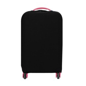 22-24 Inch Washable Foldable Luggage Cover Suitcase Protector Black- intl