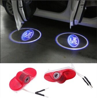 2X Car LED Courtesy Door Logo Projector Light For Ford Modeo S-MaxCar Door Ghost Shadow Projector No Drill 3D Laser Logo Light - intl