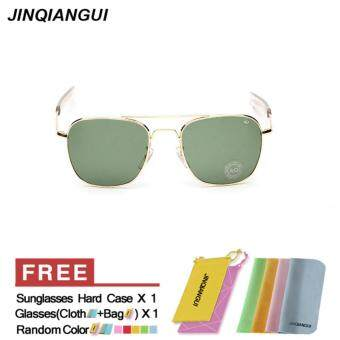 556ddc7359 3 Pcs Sunglasses Men Square Sun Glasses GreenGold Color BrandDesign - Intl