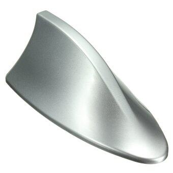 ABS Plastic Roof Style Shark Fin Antenna Radio Signal Aerials For Most Cars Silver