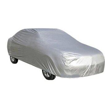 BEST Tmall Full Car Cover Waterproof Sun UV Car Cover Size M(Silver)