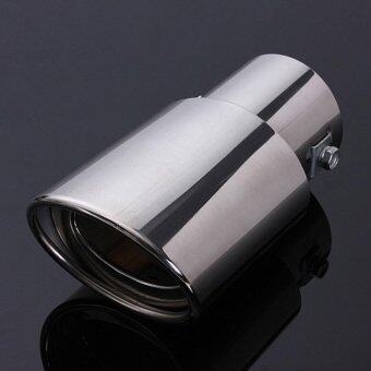 Car Silver Chrome Stainless Steel Straight Exhaust Pipe RearMuffler Trim - intl