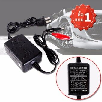 Elit เครื่องชาร์จแบตเตอรี่ 12 V Sealed Lead Acid Car Motorcycle Battery Charger Rechargeable Maintainer (2ชิ้น)