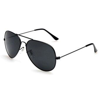 Harga Fashion&Casual women polarized sunglasses Fashion sunglasses (Black Grey)