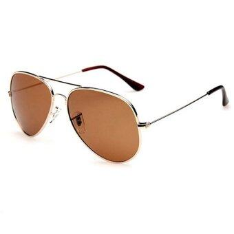 Harga Fashion&Casual women polarized sunglasses Fashion sunglasses (Gold Brown)