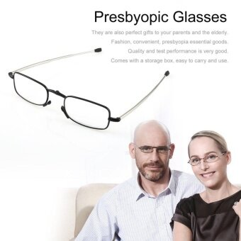 4f794c80547 Foldable Stainless Steel Presbyopic Glasses Eyewear Style Reading Glasses  Black  1.5 - intl