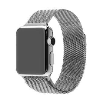 GAKTAI Replacement Milanese Magnetic Loop Stainless Steel StrapWatch Bands For Apple Watch iWatch 42MM - Silver