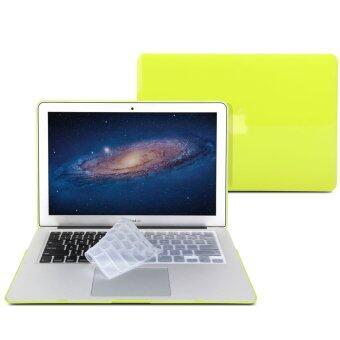 GMYLE เคส MacBook Air 13 นิ้ว พร้อม Keyboard Cover (สีเหลืองนีออน)