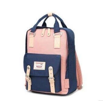 Happy Buy British Style Backpack Women Backpacks Doughnut PatchworkFashion Girls School Bags for Girls Canvas Women Backpack Mini -intl