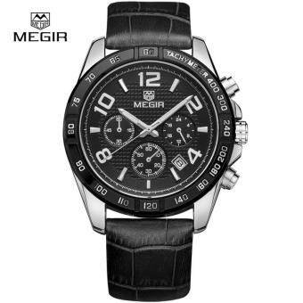 Harga Megir Hot Leather Band Quartz Watch Man Fashion Brand Wristwatches Men Casual Analog New Waterproof Watches for Male Glow Hands