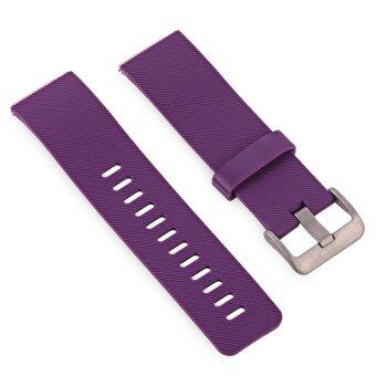 Harga 24mm Silicone Band for Fitbit Blaze Smartwatch (Purple) - intl