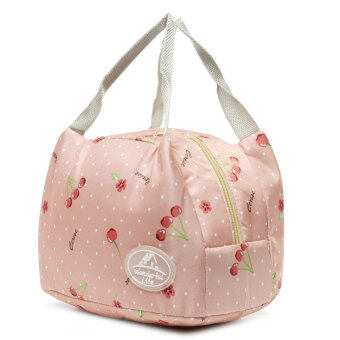 Harga Insulated Thermal Lunch Box Storage Bag Bento Carry Totes Picnic Pouch Container Pink Cherry