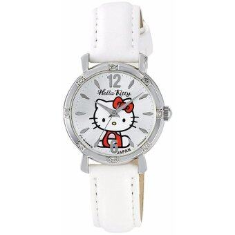 Harga [Citizen Queue and Queue] CITIZEN Q & Q Watch Hello Kitty Analog Leather Belt Made in Japan 0003N002 Women's - intl