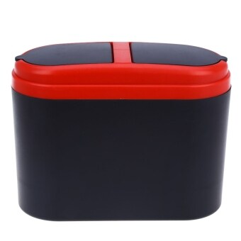 Harga Mini Home Car Auto Trash Can Garbage Dust Holder Box (Red) - intl