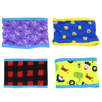 Harga 4 PCS Male Dog Washable Reusable Sanitary Belly Band Toilet Diaper Wrap Pants Random Style Size L