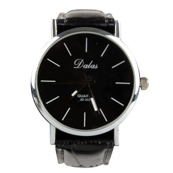 Harga Lady Girl Women Candy Faux Leather Quartz Sport Analog Wrist Watch Black