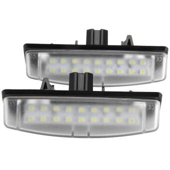 Harga 12V SMD 3528 White Light 24 LEDs License Plate Lamp for Toyota Camry Echo Lexus IS LS GS ES RX - 2pcs - INTL