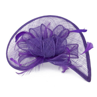 Harga Aliceband Hat Fascinator Feather Headband Wedding Lady Royal Ascot Purple