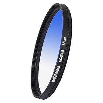 Harga MENGS® 67mm Graduated BLUE Lens Filter With Aluminum Frame For Canon Nikon Sony Fuji Pentax Olympus Etc Digital And DSLR Camera