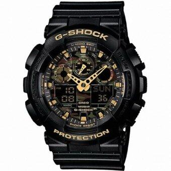 Harga Casio G Shock Camouflage Sports Watch GA-100CF-1A9 / Mineral Glass / Magnetic Resistant / 200-meter water resistance - intl